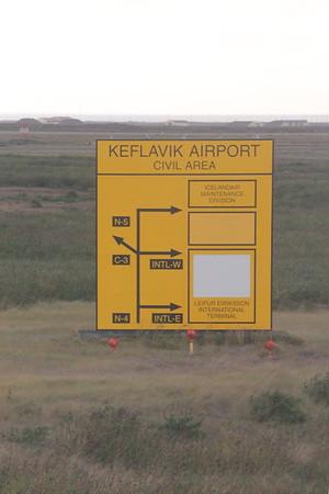 Keflavik Airport signpost