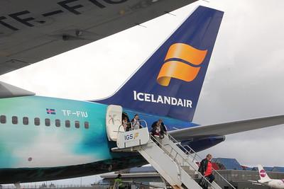 Tail of Icelandair B757 TF-FIU (Helka Aurora) at Keflavik