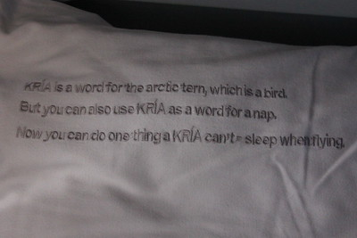 Icelandair pillow
