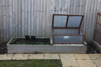 Cold Frame Bed before