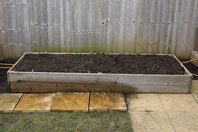 Cold Frame bed moved and leveled