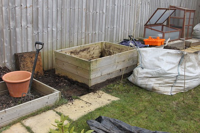 Herb bed emptied and moved