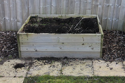 Herb bed with herbs removed