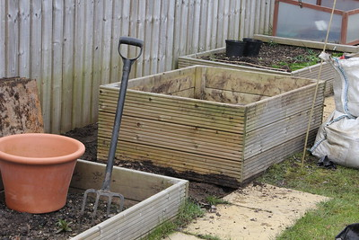 Herb bed levelled