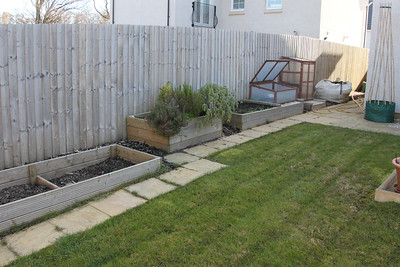 Raised beds before